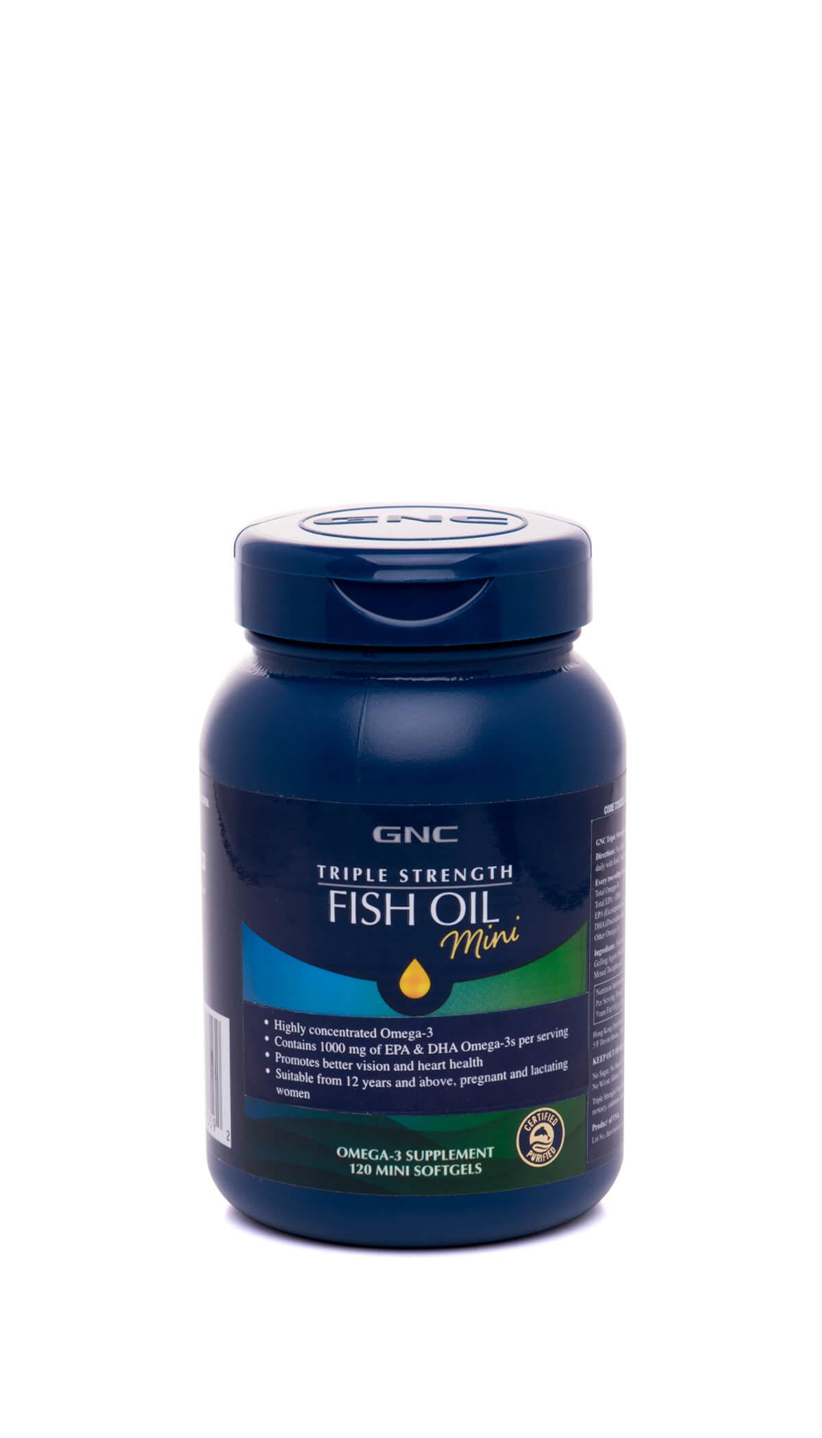 Triple Strength Fish Oil (120 Mini Softgels)