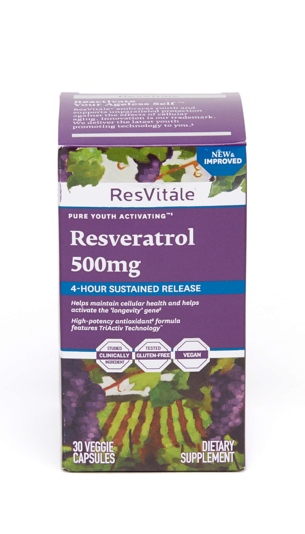 ResVitále™ 白藜芦醇(长效配方)500毫克