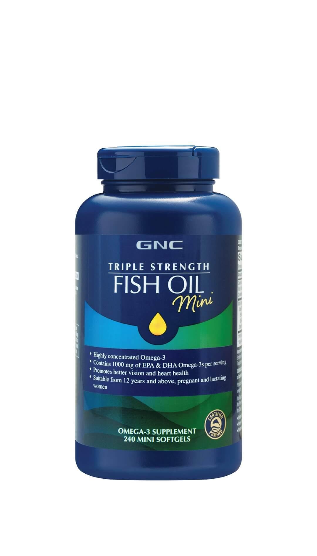 Triple Strength Fish Oil (240 Mini Softgels)